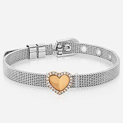 Stainless steel diamond bracelet