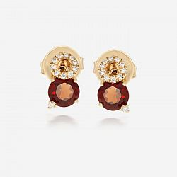 Diamond and garnet earrings
