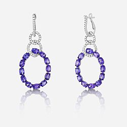 Diamond and tanzanite earrings