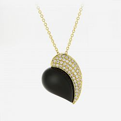 Diamond and onyx necklace