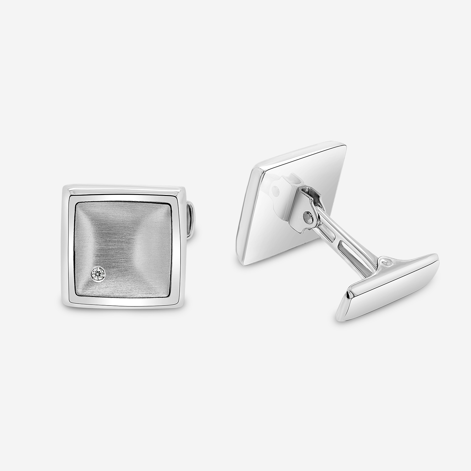 Cufflinks Gold cufflinks White Diamonds