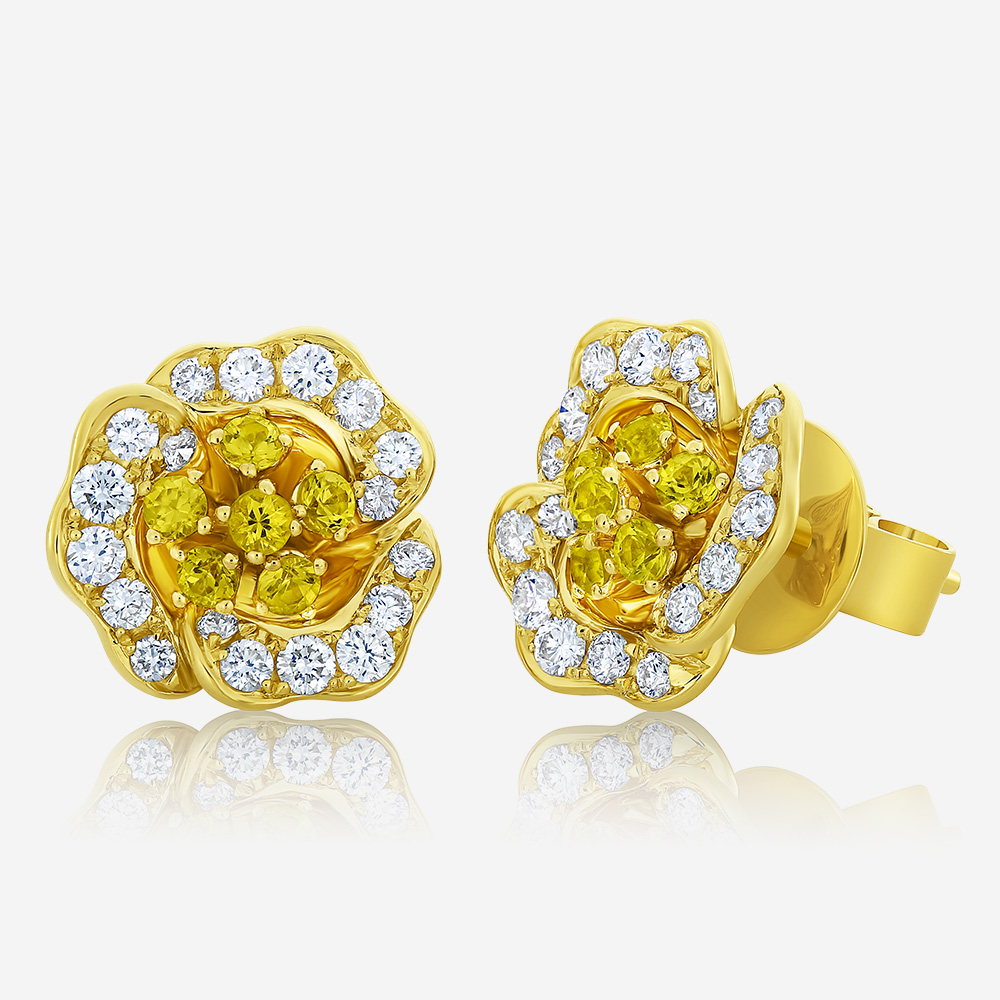 Diamond Earrings Diamond earrings Yellow Diamond