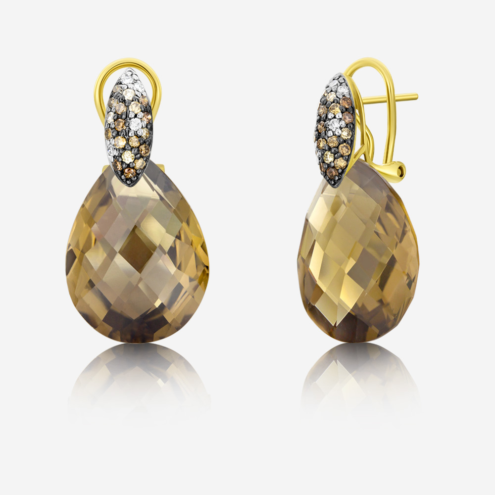 Diamond Earrings Diamond Earrings Yellow Diamond <br/>Quartz