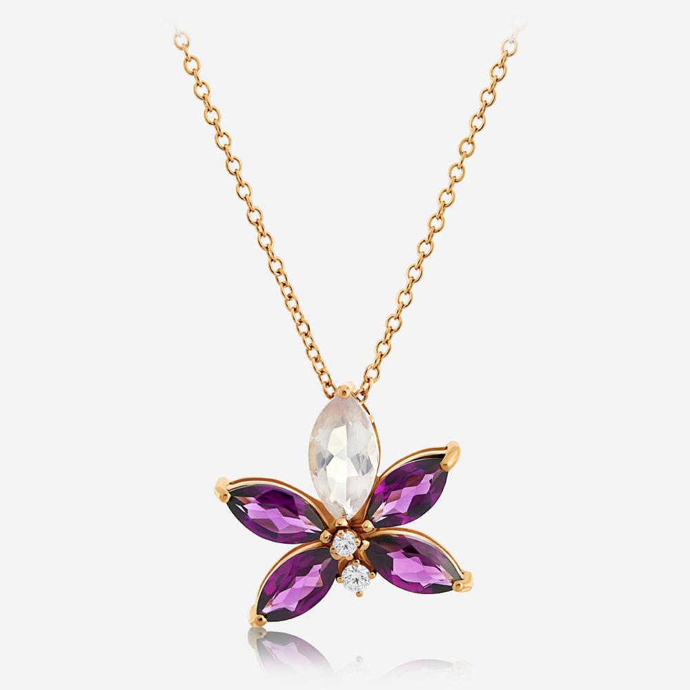Diamond Necklaces Diamond necklace Rose Diamond