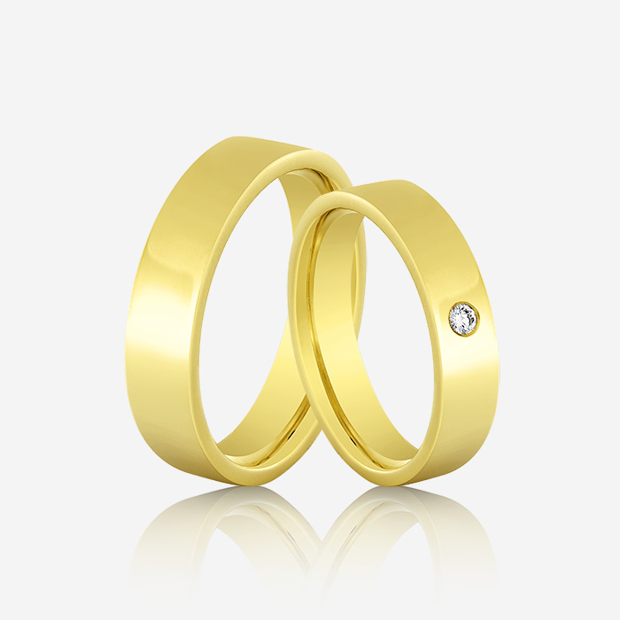 Wedding rings Atractivo 502 Yellow <br/>Pink <br/>White Diamond