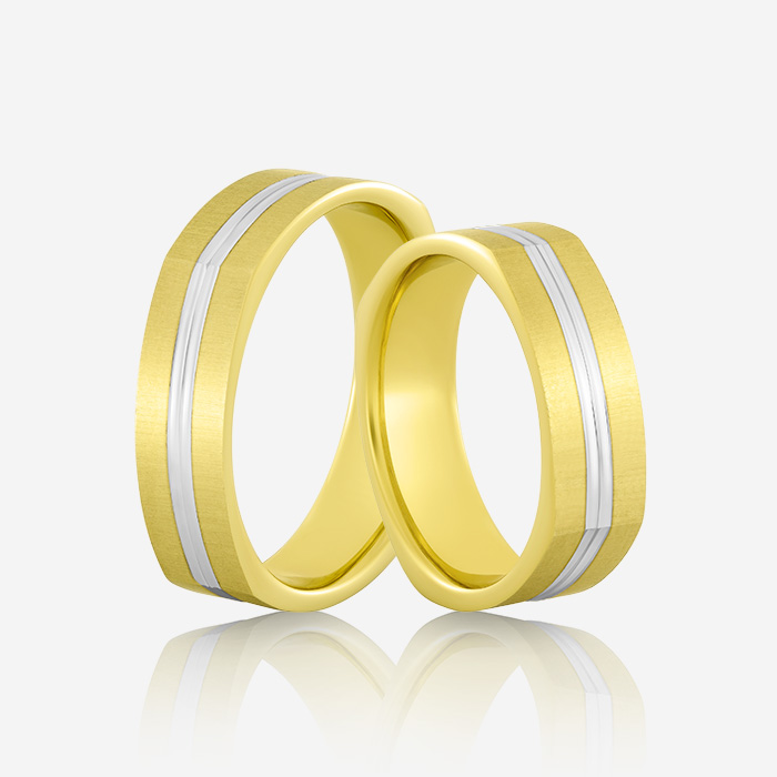 Wedding rings Atractivo 510 Yellow & White