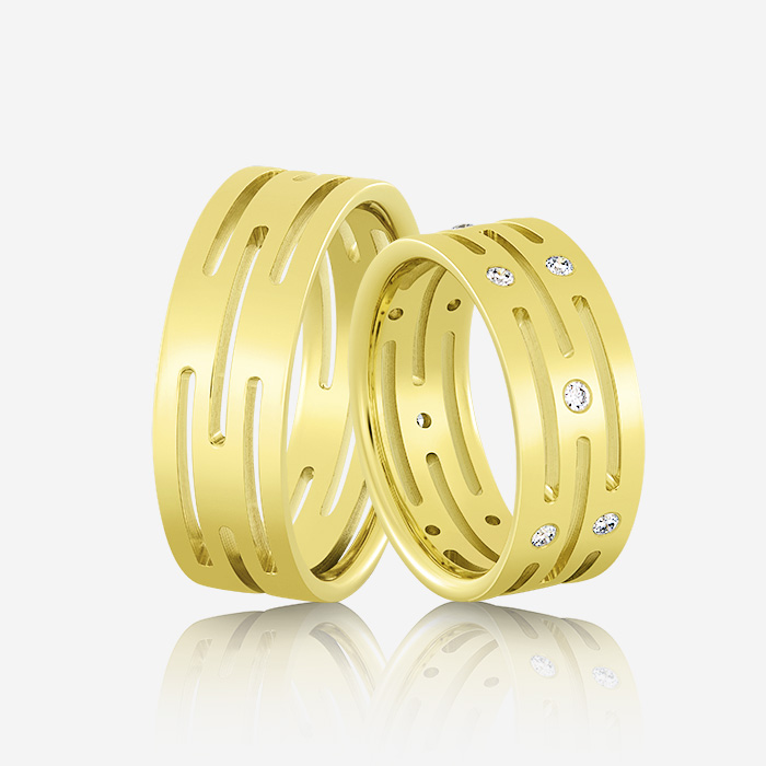 Wedding rings Elegante 604 Yellow Diamond