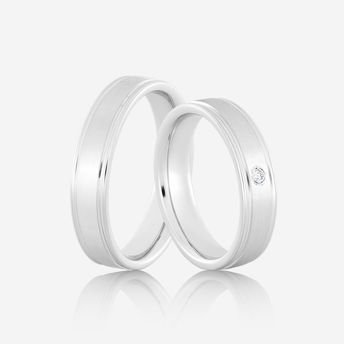 Wedding rings Elegante 611 White Diamond