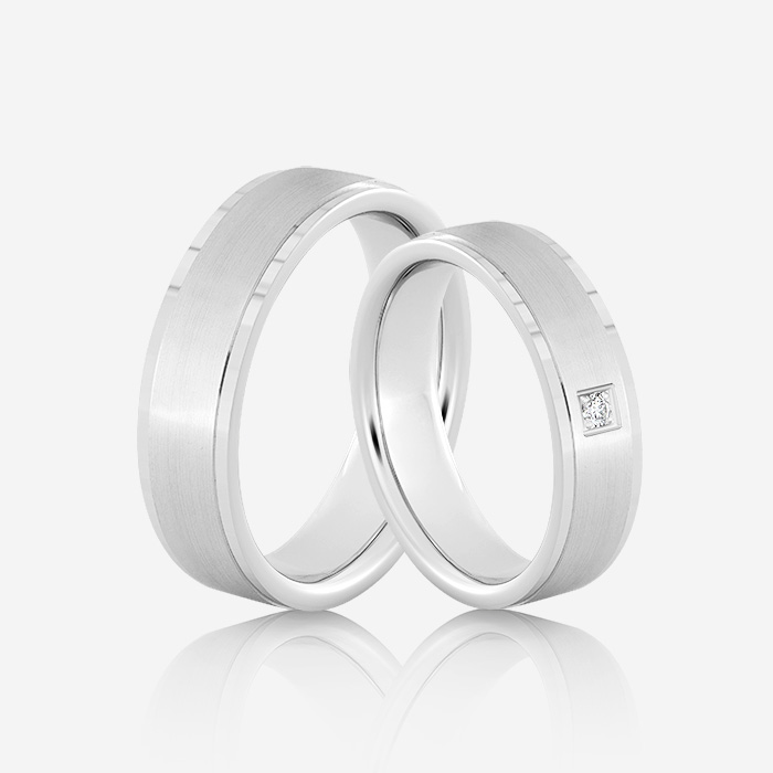 Wedding rings Elegante 612 White Diamond