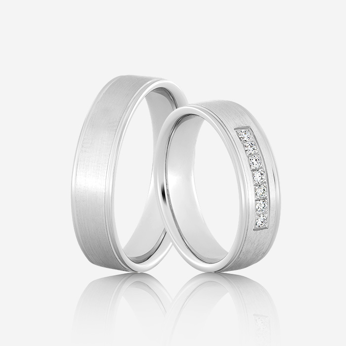 Wedding rings Elegante 616 White Diamond