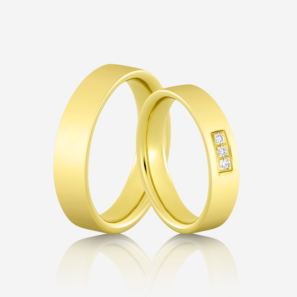 Wedding rings Elegante 619 Yellow Diamond