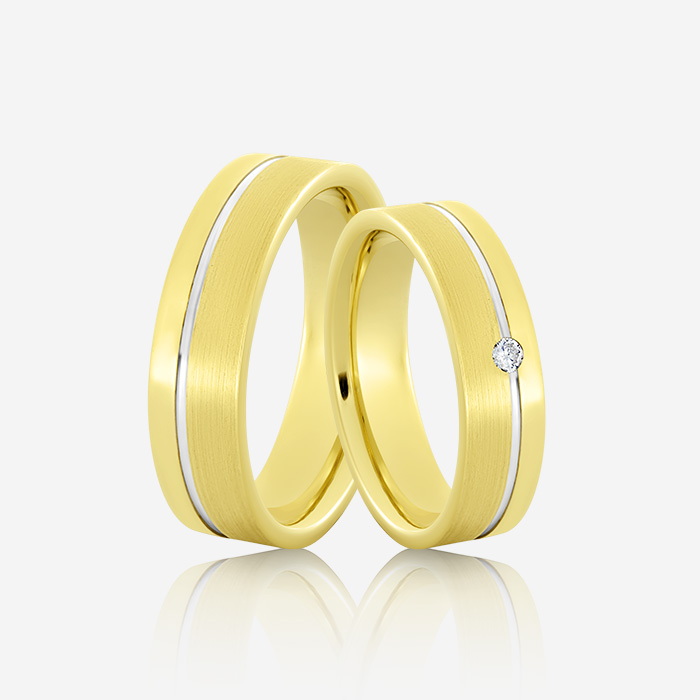 Wedding rings Euforia 105 Yellow & White Diamond