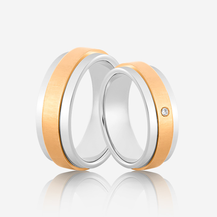 Wedding rings Euforia 110 White & Pink Diamond