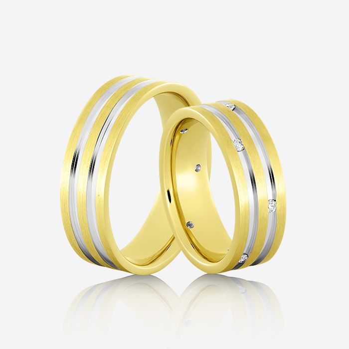Wedding rings Euforia 113 Yellow & White Diamond