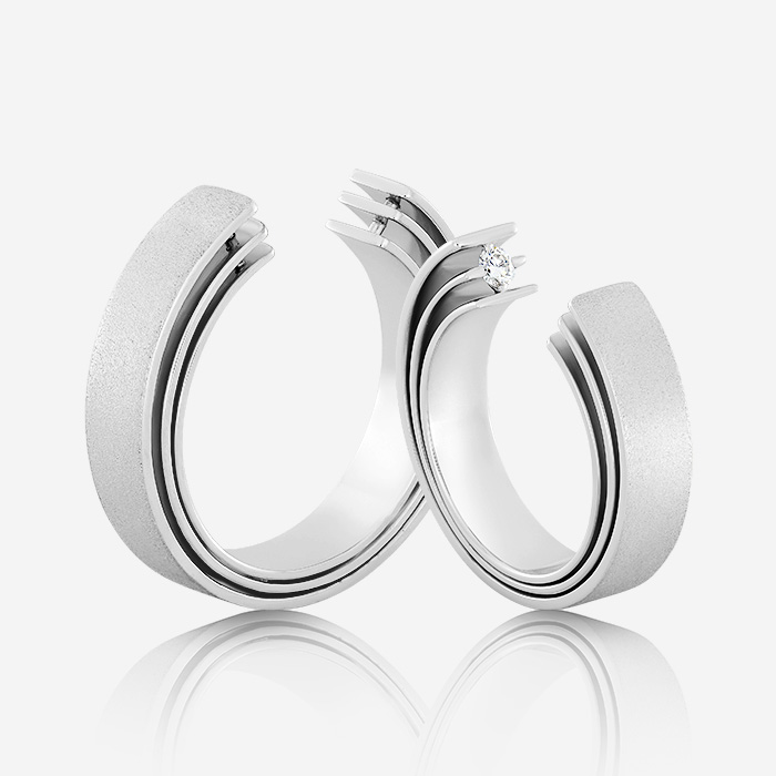 Wedding rings Euforia 121 White Zirconia