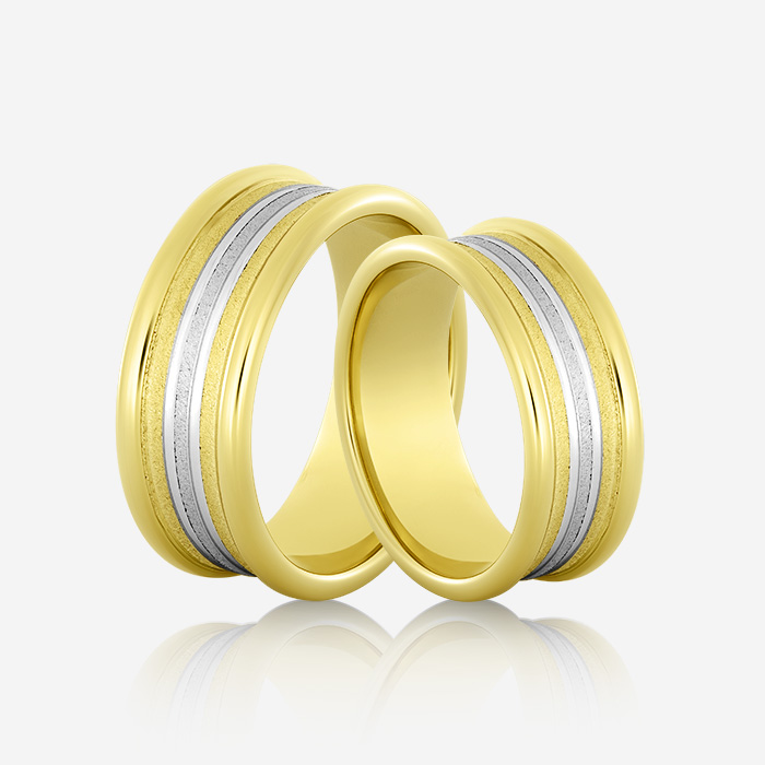 Wedding rings Onesta 414 Yellow & White