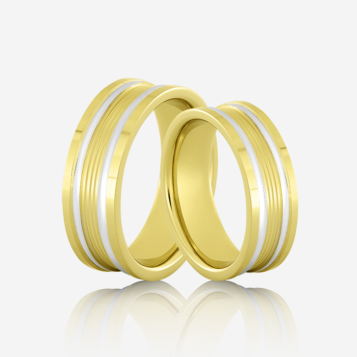 Wedding rings Onesta 415 Yellow & White