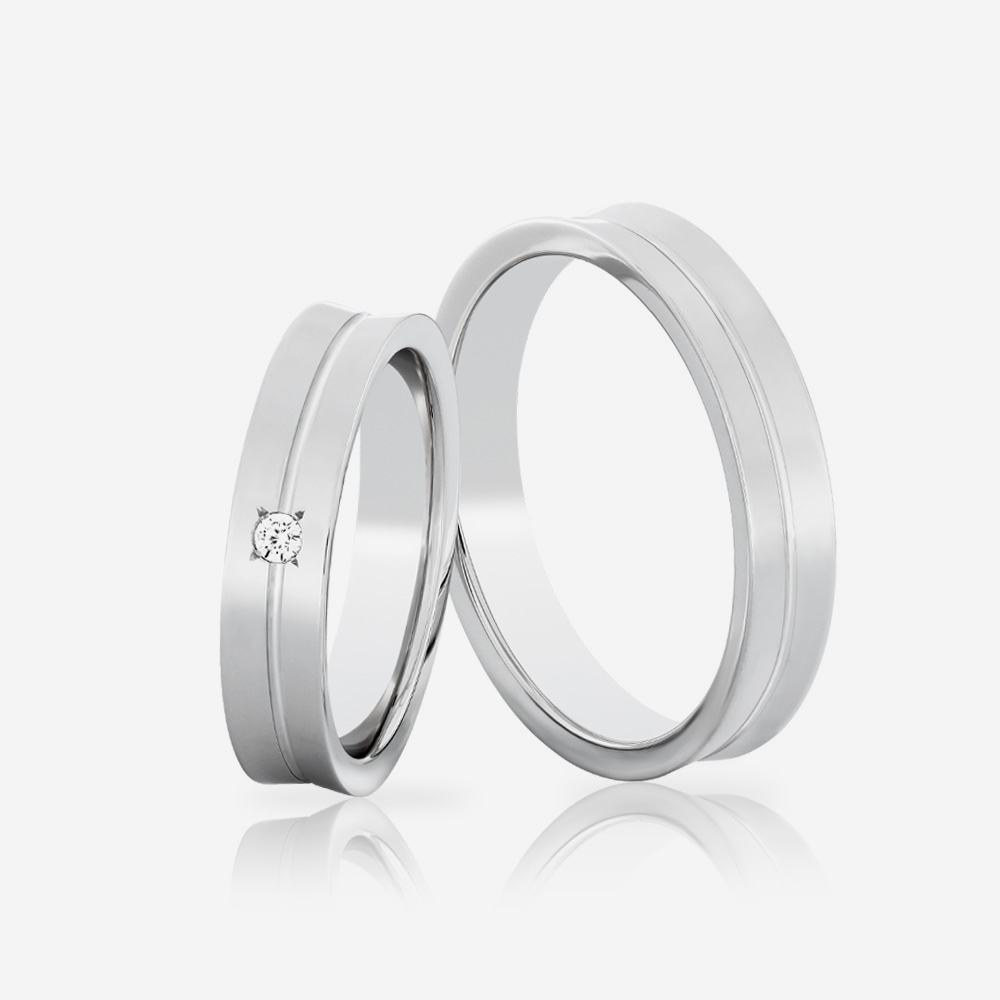 Wedding rings Euforia 111 White Diamond