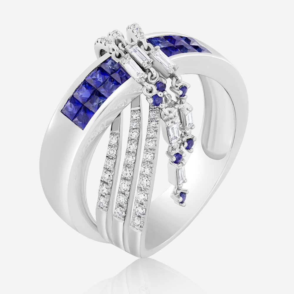 Diamond Rings Diamond and sapphire ring White Sapphire <br/>Diamond