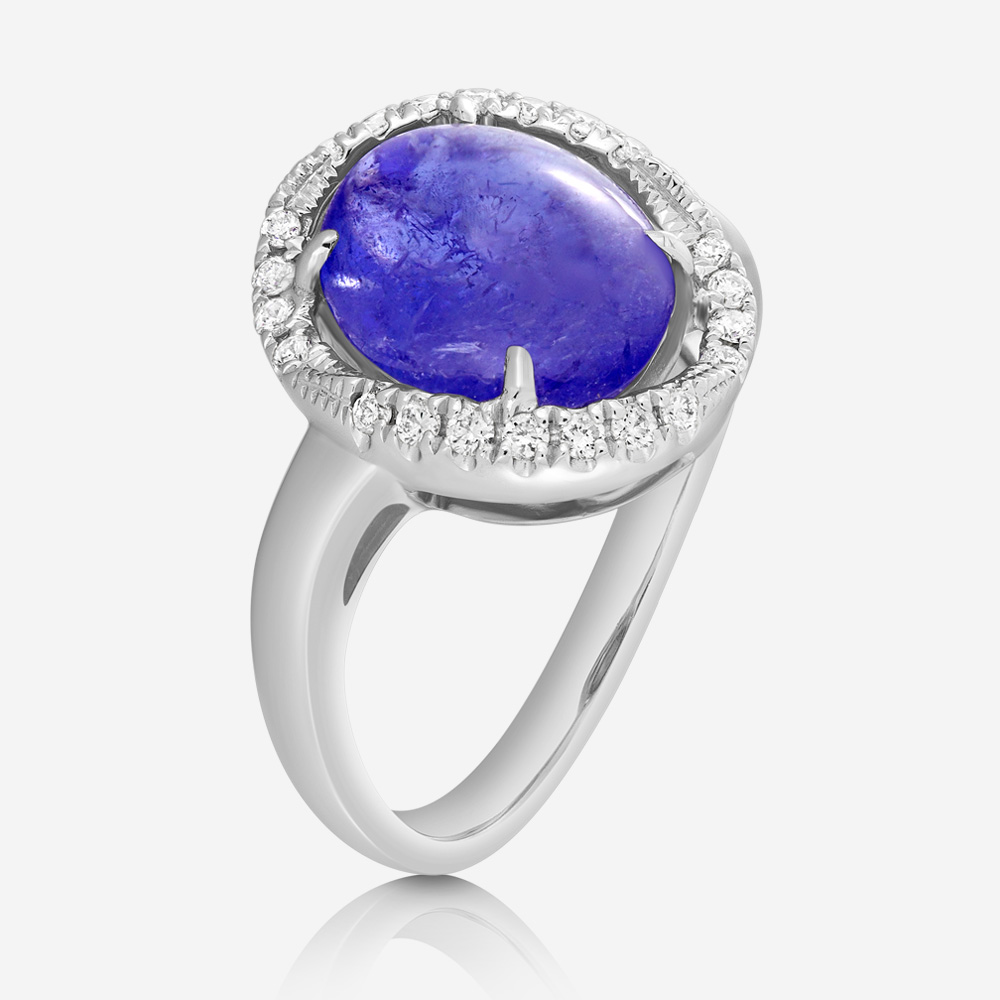 Diamond Rings Diamond ring White Diamond <br/>Tanzanite