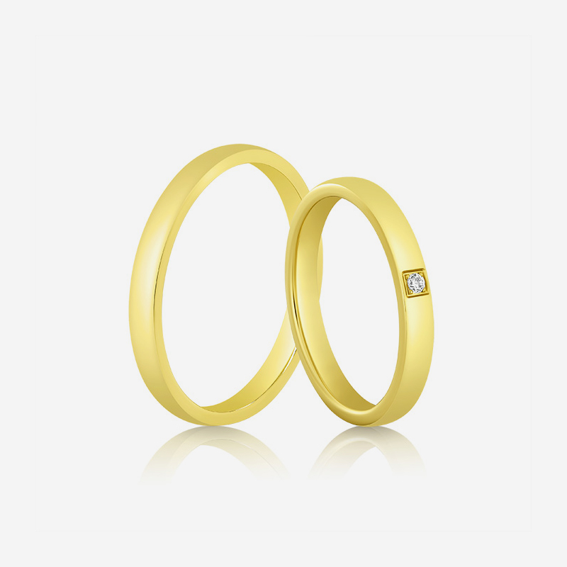 Wedding rings Elegante 632 Yellow Diamond