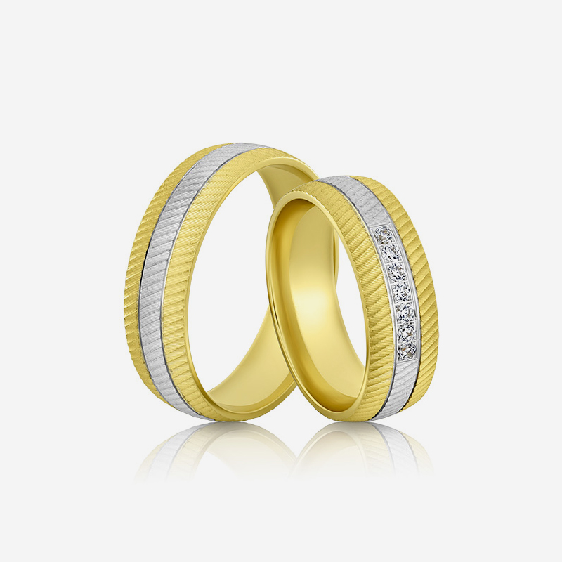 Wedding rings Elegante 634 Yellow Diamond