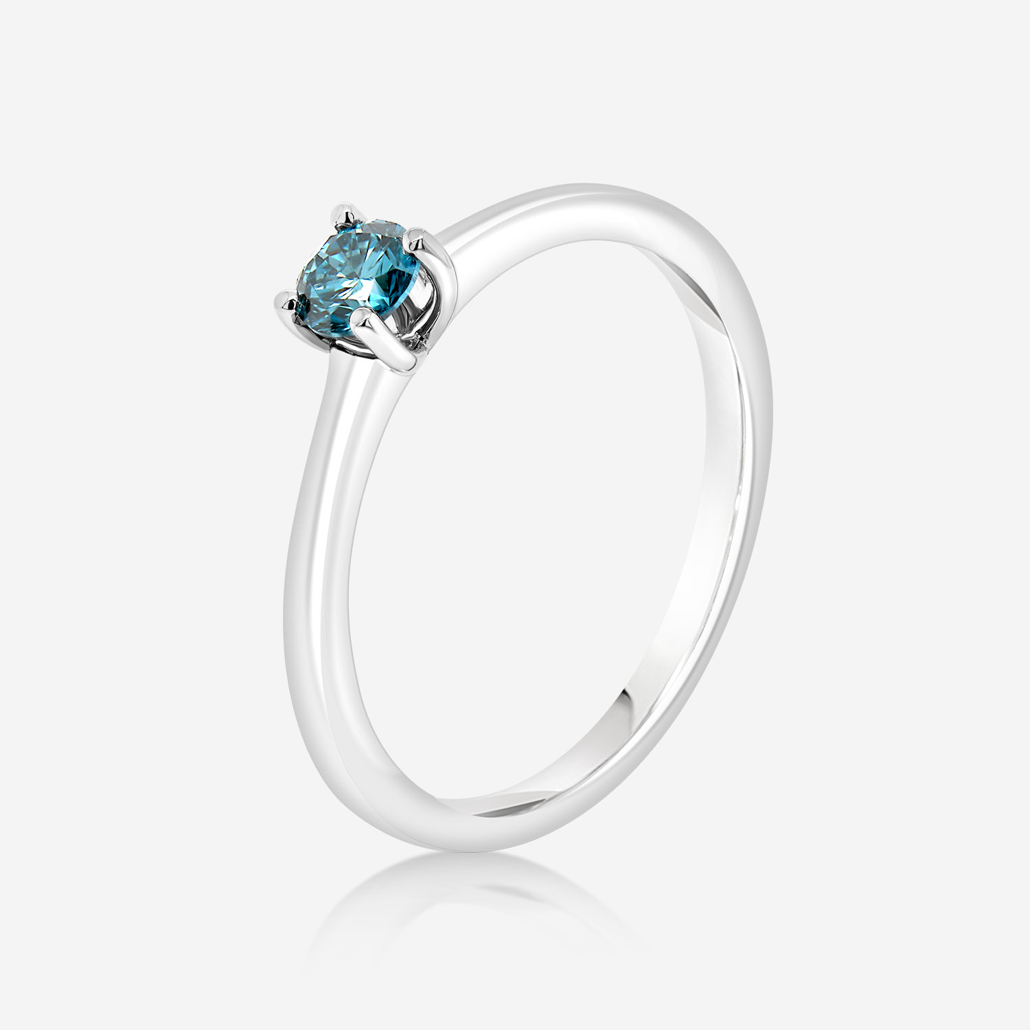 Engagement rings Ice Blue diamond gold ring White Ice Blue Diamond