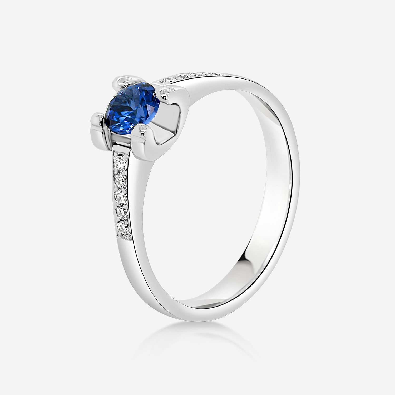Engagement rings Diamond and sapphire ring White Diamonds and sapphire