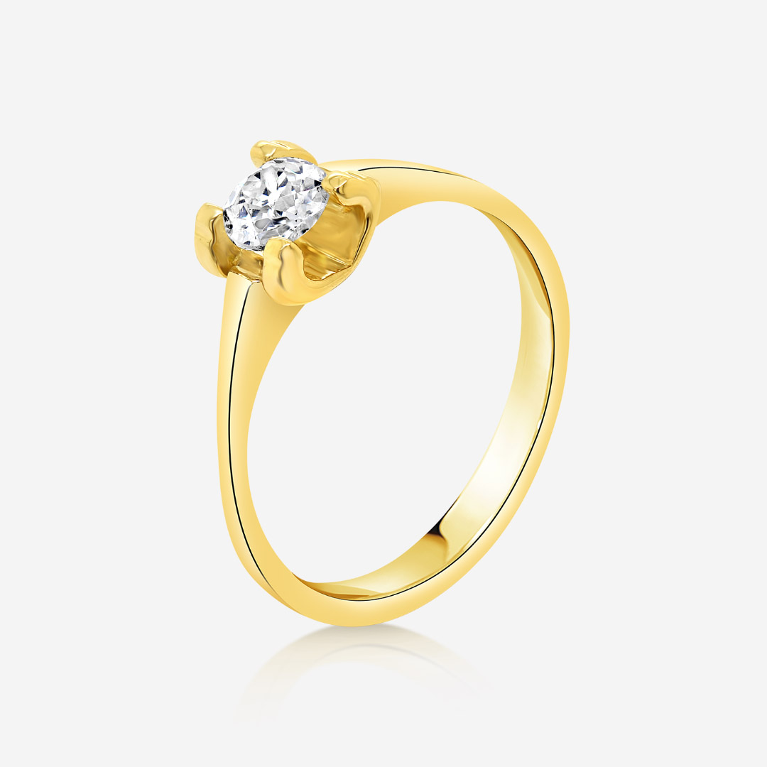 Engagement rings Diamond gold ring Yellow Diamond