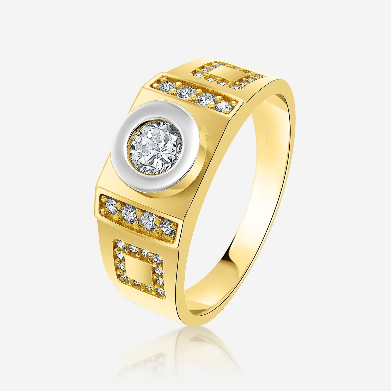 Gold rings Gold ring Yellow Zirconia